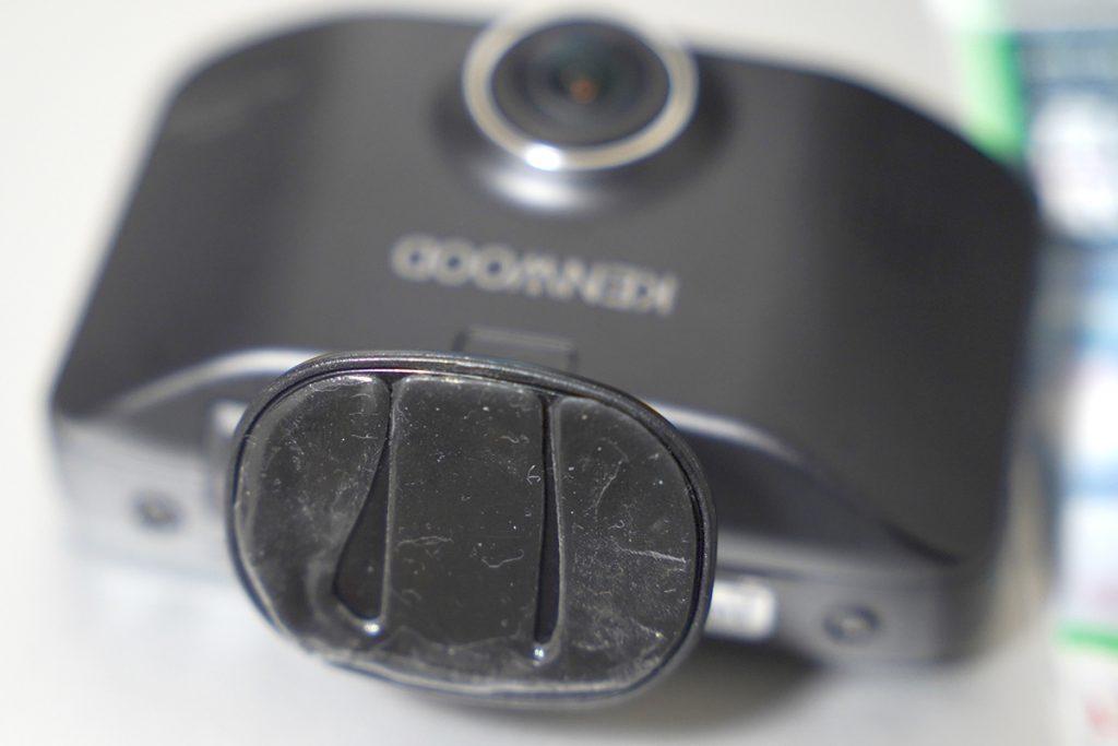 スズキ スイフトスポーツ ZC33S オレンジ ドライブレコーダー取り付け(ドライブレコーダーの両面テープ)
