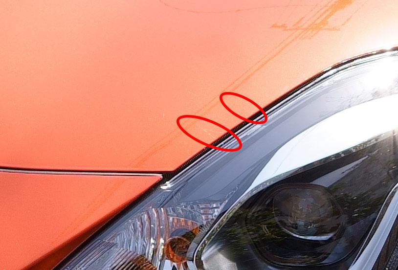 スズキ スイフトスポーツ ZC33S オレンジ 納車時のボディ付着物